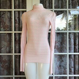Free People Lacy Pink Lightweight  Sweater S